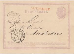 Niederlande: 1871: Ganzsache nach Amsterdam