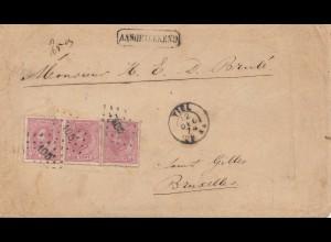 Niederlande: 1874: Tiel nach Brüssel