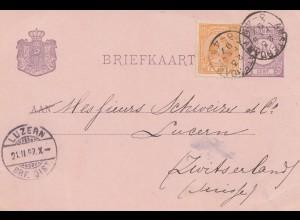 Niederlande: 1897: Ganszsache Amsterdam nach Luzern