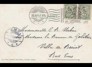 Niederlande: 1905: Gravenhage nach Bad Ems
