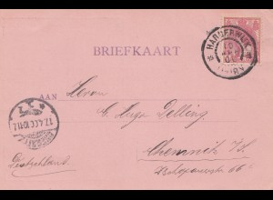 Niederlande:1900: Ansichtskarte Raadhuis te Harderwijk nach Chemnitz