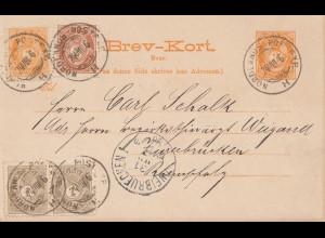 Norwegen: 1896: Ganzsache Nordlands nach Zweibrücken