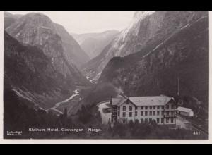 Norwegen: 1940: Ansichtskarte Gudvangen