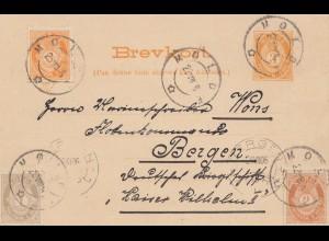 Norwegen: 1906: Ganzsache Molde nach Bergen