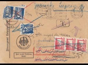 Österreich: 1932: Finanzamt Leipzig nach St. Wolfgang - TAXE