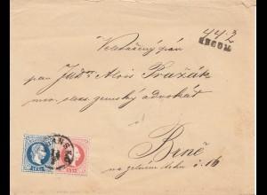 Österreich: 1876: Brief nach Brünn