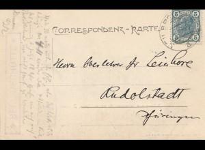 Österreich: 1906: Ansichtskarte Zillerthal nach Rudolstadt