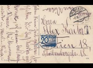 Österreich: 1931: Italien Ansichtskarte nach Wien - Nachporto