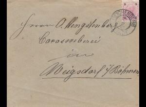 Österreich: 1898: Reichenberg nach Böhmen
