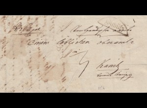 Österreich: 1886 Ölmütz nach Kannitz