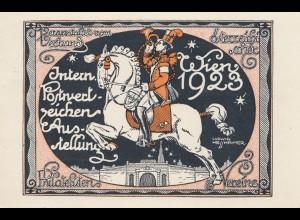 Österreich: 1923: Wien Postwertzeichenausstellung - Spezialstempel
