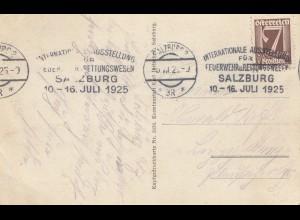 Österreich: 1925: Salzburg Feuerwehr Ausstellung