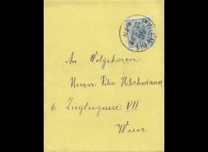 Österreich: 1898: Wien - Ortsbrief