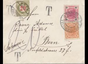 Österreich: 1906: Brief nach Bern - Taxe