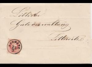 Österreich: 1875 Lissatz nach Lettowitz
