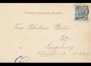 Österreich: 1900: Ansichtskarte Rattenberg nach Augsburg