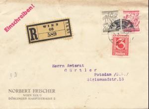 Österreich: 1920: Einschreiben Wien nach Postsdam
