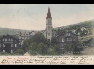 Österreich: 1902: Ansichtskarte Johannisbad nach Görlitz