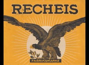 Österreich: 1936: Recheis Eierteigwaren