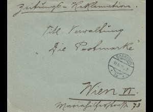 Österreich: 1923: Dornbirn nach Wien