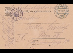 Österreich: 1915: kuk Etappenpostamt nach Wien