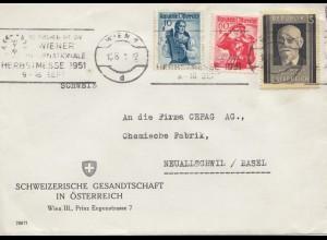 Österreich: 1951: Wien nach Neuallischwill/Basel