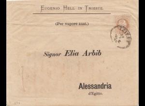 Österreich: 18xx Trieste nach Alessandria