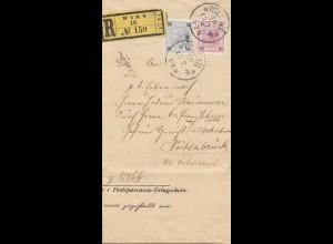 Österreich: 1900: Einschreiben Wien Vöcklabruck
