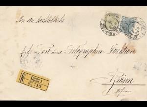 Österreich: 1905: Einschreiben Kremsier nach Brünn; Telegraphen Direktion