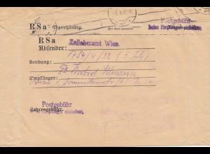 Österreich: 1933: Wien Freistempel - Zolloberamt -