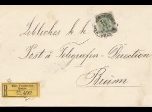 Österreich: 1904: Einschreiben Mähr. Weisskirchen nach Brünn