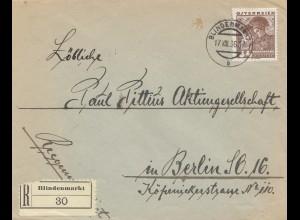 Österreich: 1936: Einscheiben Blindenmarkt nach Berlin
