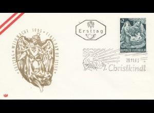 Österreich: 1963: Christkindl FDC