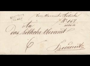 Österreich: 1847: Bytritz nach Broskowitz, Oberamt