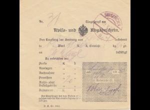 Österreich: 1920: Aviso- und Abgabenscheini Burgkirchen