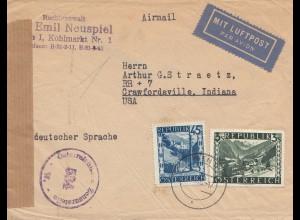 Österreich: 1946: Wien nach USA: Zensurstelle