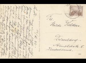 Österreich: 1932: Ansichtskarte Mösern-Gasthof nach Düsseldorf