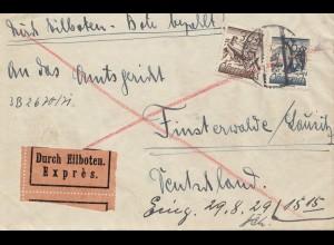 Österreich: 1929 Eilboten Salzburg nach Finsterwalde