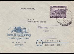 Österreich: 1948: Kitzbuhel nach Dresden - Zeiss-Ikon Werke