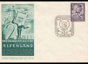 Österreich: 1947: Graz Markenplauderei Alpenland