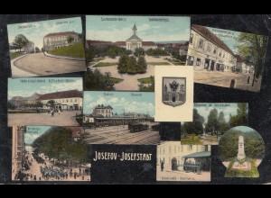 Österreich: 1914: Ansichtskarte Josefov Josefstadt, überprüft nach Deutschland