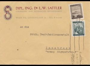 Österreich: 1947: Wien nach Innsbruck - Desinfektionsanstalt