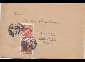Österreich: 1934: Brief nach Italien