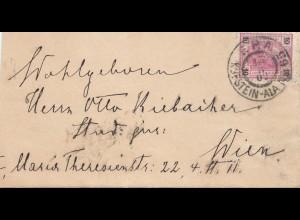 Österreich: 1902: Kufstein nach Wien