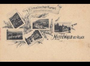 Österreich: Ansichtskarte Mittewald bei Villach