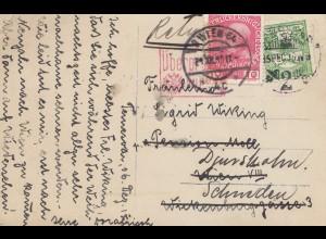 Österreich: 1915: Ansichtskarte Temesvar nach Schweden