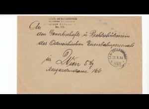 Österreich: 1933: Zellerndorf nach Wien; Eisenbahner Rechtschutz