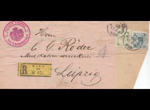 Österreich: 1902: Wien als Einschreiben nach Leipzig, Adressteil