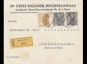 Österreich: 1931: Einschreiben Innsbruck
