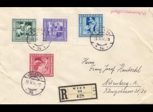 Österreich: 1937: Einschreiben Wien nach Nürnberg